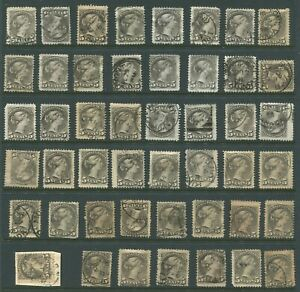 CANADA #42 USED SMALL QUEEN DATED WHOLESALE LOT