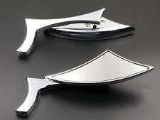 Chrome Spear Rear View Side Mirrors For HARLEY SOFTAIL SPORSTER XL DYNA GLIDE