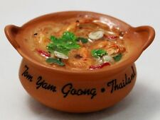 Tom Yam Kung Goong in Clay Pot Hot THAI FOOD 3D Fridge Magnet Resin Sculpture