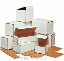 100 - 6 x 2 1/2 x 2 3/8 White Corrugated Shipping Mailer Packing Box Boxes