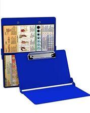 BLUE Nursing Clipboard Folding Foldable Pocket Reference 8.75 to 11.5 Great Gift