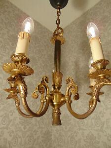antik Rarität  Kronleuchter Lüster Empire Bronze Gold  Frankreich ca.1880 -1900