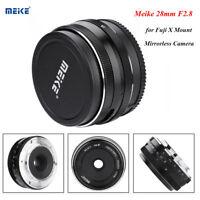 Meike 28mm F/2.8 Large Aperture MF APS-C Lens for Fuji X Mount Mirrorless Camera