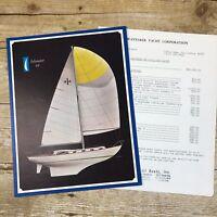 Vtg Sailboat Dealer Sales Brochure Wayfarer Yacht Islander 44 1967 Price List