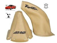 Schaltsack Handbremsmanchette Fur Mazda MX5 MK1 1989-1997 Beige Leder Stickerei