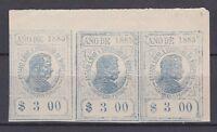 es - 1885 Etat Libre de MORELOS (Mexique) 3 $ Contribution Personnelle