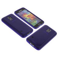 Funda para Samsung Galaxy S5 Handytasche Mini Protector De TPU Goma Azul Oscuro
