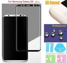 Silver/Platinum 3D Curved  Tempered Glass Screen Protector Samsung Galxy S8 Plus
