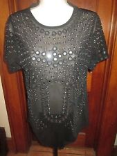 CHRISTOPHER KANE Body Suit Blouse by TOPSHOP With Sequin Design US 10