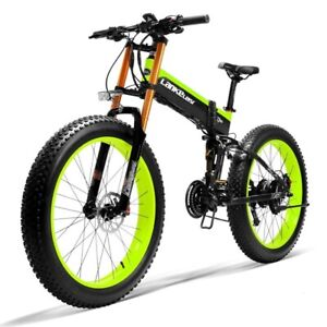 Electric Bicycle 1000W 48V Ebike 26inch Folding Mountain Bike Fat Tire Snow Bike