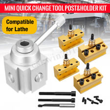 "Mini Quick Change Lathe Tool Post 3//8/"" Boring Bar Holder w// Mounting Bolts B1T5"