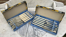 Vintage Joseph Rodgers, Sheffield Grill Or Steak Knives & Forks. Unused, Boxed.