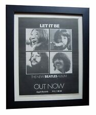 THE BEATLES+Let It Be+LP+POSTER+AD+RARE ORIGINAL 1970+FRAMED+EXPRESS GLOBAL SHIP