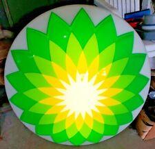 Lighted BP Oil/Gas Station Logo Sign 29.75 Inch Diameter Embossed Plastic