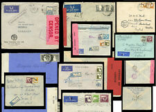 PALESTINE WW2 1939-45 CENSORED or REGISTERED AIRMAIL to GB or HOLLAND