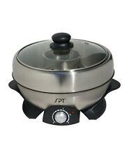New SPT Multi-Cooker Stainless Steel Shabu-Shabu & Grill 3 Quart SS-301 (Boxed)