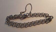 """New listing Vintage Sterling Silver Starter Charm Bracelet 7-1/2"""""""