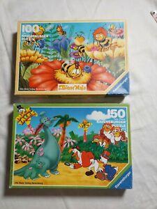 Ravensburger Duck Tales 150 Pc. and Die Bien Maja 100 Pc. INCOMPLETE