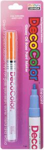 Deco Color Fine Point Glossy Oil base Paint Marker 1/Pkg-Orange Marvy