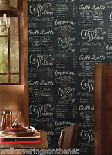 Unusual Menu Style  Wallpaper, Ideal for a Coffee Shop/Cafe