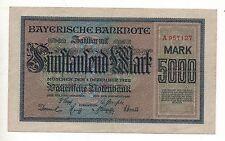 GERMANY BAYERISCHE BANK 5000 MARK 1922 NOTGELD EMERGENCY MONEY LOOK SCANS