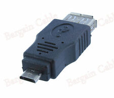 USB Micro B Male to A Female Adapter (AUA2-MCB1)