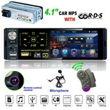 4.1 Car Radio 1Din MP5 Player HD Bluetooth FM RDS TF Touch Capacitive Screen