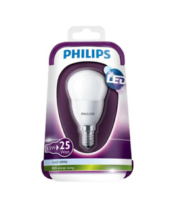 Philips E14 3.5W 250lm Mini globe LED Light bulb , pack of 2