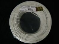 22 GAUGE 4 CONDUCTOR 100 FT WHITE ALARM WIRE STRANDED COPPER HOME SECURITY CABLE