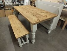 6' COUNTRY MANOR PAINTED TABLE HANDMADE BESPOKE SIZES& COLOURS F&B PAVILION GRAY