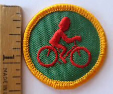 Vintage Girl Scout 1980-1991 Junior BICYCLING BADGE Bike Riding Sports Patch
