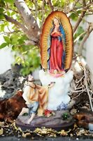 "12"" OUR LADY OF GUADALUPE SAN ST. JUAN DIEGO FIGURINE STATUE VIRGEN MARIA"