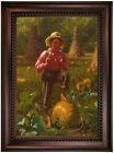 Brown That's me pumpkin 1874 Wood Framed Canvas Print Repro 19x28