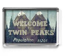 TWIN PEAKS 7 x 4.5cm fridge magnet Welcome sign, David Lynch, Mr Jackpots