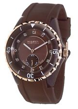 Haurex Italy Women's 1M337DMH Riviera Rotating Bezel Crystals Watch