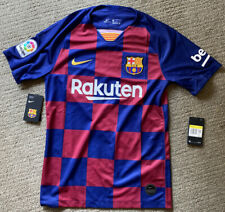 Nike FC Barcelona 19/20 Home Jersey AJ5532-456 Mens Size S NWT LIONEL MESSI