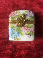Limoges French Porcelain Box Floral Scenter Box with Perfume Bottles
