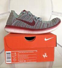 Nike Free RN Flyknit Gyakusou 844101 006 Wolf Grey/TM Red M 6/ W 7.5