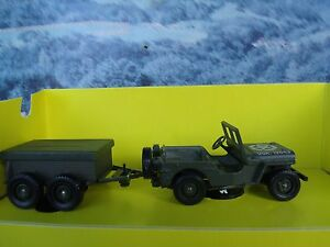 1/43 Solido (France)   Jeep with trailer  US army #6034