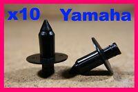 10 motor cycle bike fairing panel trim plastic push fit rivet clips Yamaha