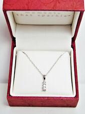 10K White Gold 1/4 ct. tw. Diamond Three-Stone Pendant