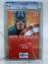 New Avengers #21 CGC 9.8 Civil War 2006 - Captain America- Marvel Movie 🎥
