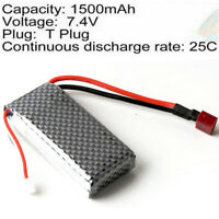 2S 7.4V 1500mAh 25C LiPO Battery T plug for RC Model Buggy Truck Speed Boat Ship
