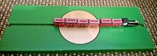 Vintage Train Strategy game ~ Wooden Train Engine 6 Cars on Turntable Wooden