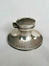 More details for solid silver ink well hallmaked birmingham c1912 (54.5g)
