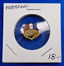 Foresters of America F of A Supreme Court Fraternal Pin Button Badge