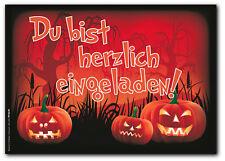12 Einladungskarten Halloween - Einladungen zur gruselige lustige Halloweenparty