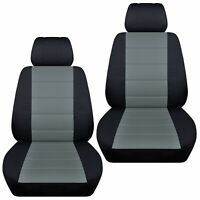 Fits 2000-2011 Suzuki Jimny  front set car seat covers  black and steel gray