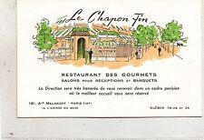 B82275 restaurant des gourmets france paris salons pour recept  front back image