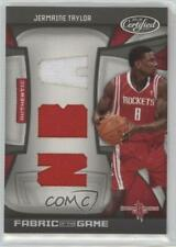 2009-10 Certified Fabric of the Game NBA Die-Cut /50 Jermaine Taylor Rookie